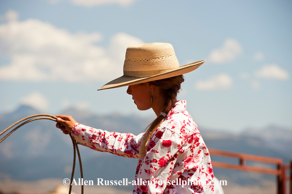 Cowgirl, Wilsall Ranch Rodeo, Montana, Lilly Brogger, MODEL RELEASED