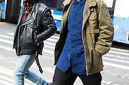 Biker Jacket and Military Jacket, NYFWM Day 1