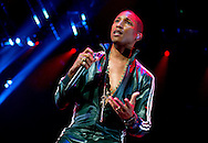 AMSTERDAM - The American pop star Pharrell Williams during his concert at the Ziggo Dome in Amsterdam as part of his 'Dear Girl' tour. COPYRIGHT ROBIN UTRECHT