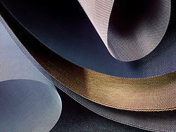 abstract design still life of aluminum window screen wire Complexity Curiosity Dynamic