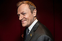 Polish Prime Minister Donald Tusk  at the end of a European Union leaders summit  in  Brussels, Belgium on 2012-03-02   by Wiktor Dabkowski
