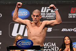 Las Vegas, NV - December 28, 2012: Joe Lauzon weighs in for his bout against Jim Miller at UFC 155 at MGM Grand Garden Arena in Las Vegas, Nevada.
