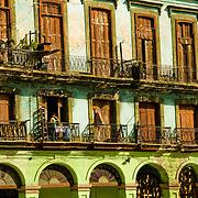 Apartment building in Central Havana, Havana Centro, Habana Centro, Centro Habana, Cuba.
