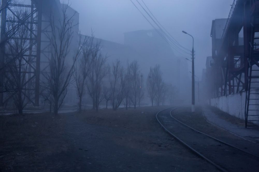 Fog at the Azovstal Iron and Steel Works on Friday, March 18, 2016 in Mariupol, Ukraine.