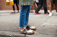 Fur Sandals on Linda Tol, Outside Cushnie and Ochs SS2016