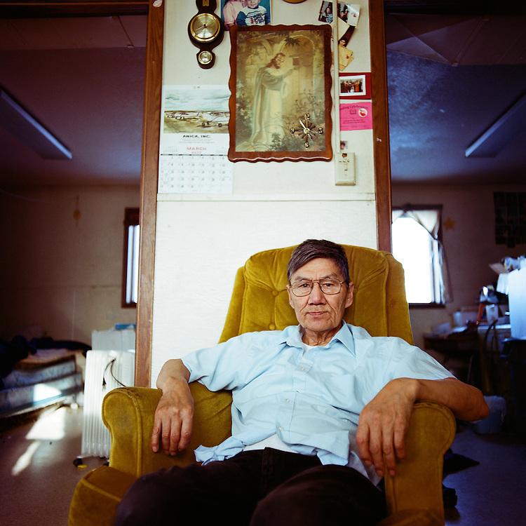 SHISHMAREF, ALASKA - 2010: Winfred Obruk.