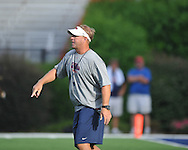 Ole Miss offensive line coach Mike Markuson at Vaught-Hemingway Stadium in Oxford, Miss. on Saturday, August 13, 2011.