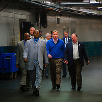 JACKSONVILLE, Fla, (November 8, 2012) -- NFL commissioner Roger Goodell arrives with entourage at the stadium during a NFL game between the Jacksonville Jaguars and Indianapolis Colts in Jacksonville, Fla., on Thursday, November 8, 2012.   (PHOTO / CHIP LITHERLAND)