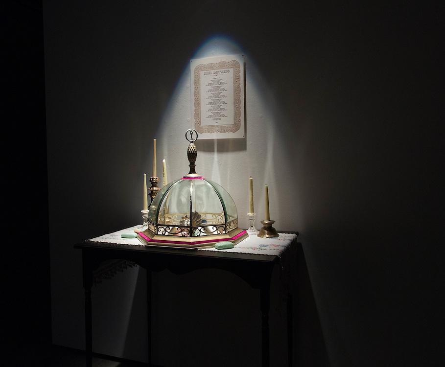 False Idols, a Master of Fine Arts installation by Julie Copenhagen. Art Lofts Gallery, University of Wisconsin-Madison.