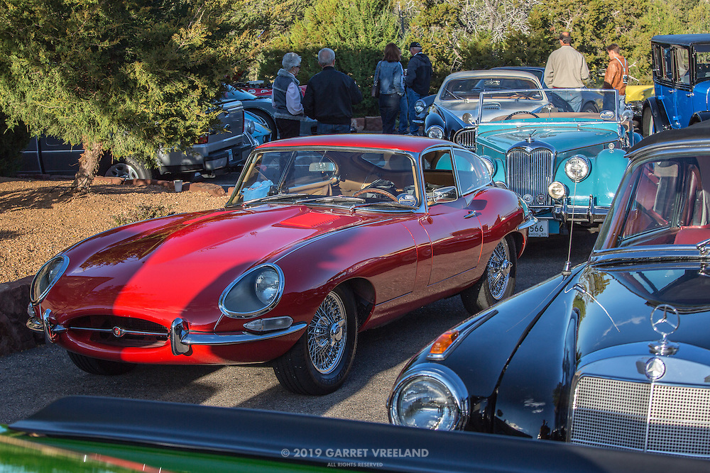 Looking down the starting lineup, Jag in the foreground. 2012 Santa Fe Concorso High Mountain Tour.