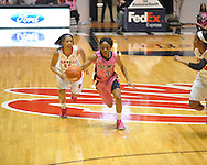 "Ole Miss' Valencia McFarland (3) vs. Georgia in women's basketball at the C.M. ""Tad"" Smith Coliseum in Oxford, Miss. on Sunday, February 24, 2013. Georgia won 73-54."
