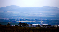 The Forth Road Bridge as seen from the racing circuit at Knockhill..©2009 Michael Schofield. All Rights Reserved.