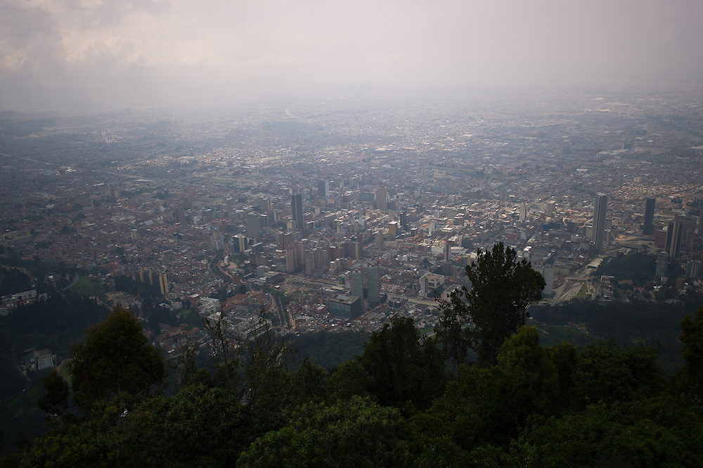 Looking towards downtown Bogotá, Colombia, from Monserrate.