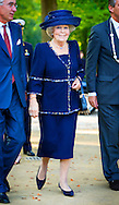4-9-2014 DOORN-  Princess Beatrix of the Netherlands opens Thursday, September 4th Pavilion Netherlands and the First World War on the grounds of Huis Doorn in the province of Utrecht. COPYRIGHT ROBIN UTRECHT