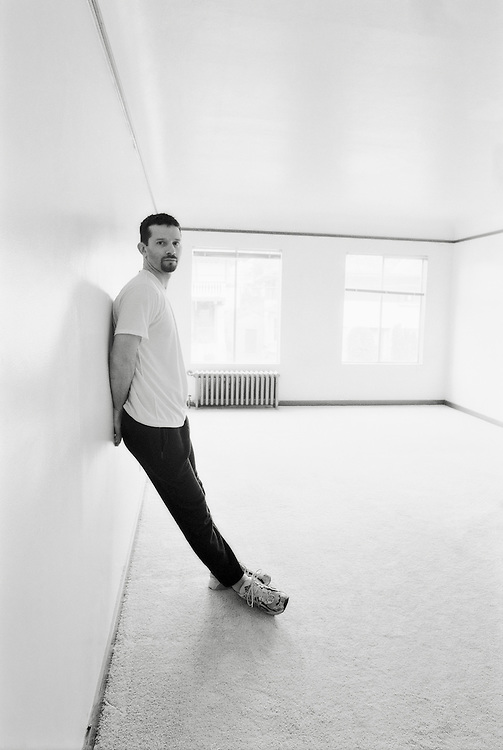 A self portrait before moving out of my studio of over 10 years on Queen Anne Hill, Seattle, Washington.