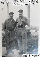 UK. London. Collect photo of Suez Veteran, Jim Worron (left)..Photo©Steve Forrest /Workers Photos