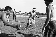Aksa Beach, India: Kabaddi match near Mumbai