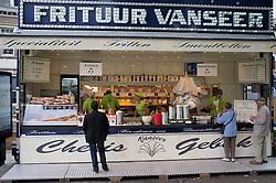 French Fries van selling frites on street in Tongeren in Belgium