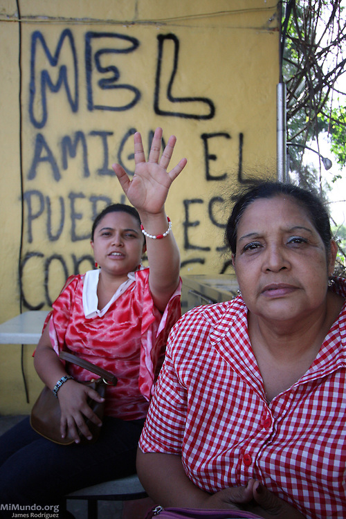 """Tegucigalpa, Honduras. July 4th, 2009. Thousands of people march through the streets of Tegucigalpa in a peaceful protest to the Coup d'Etat that forcibly removed President Manuel """"Mel"""" Zelaya on June 28th, 2009."""