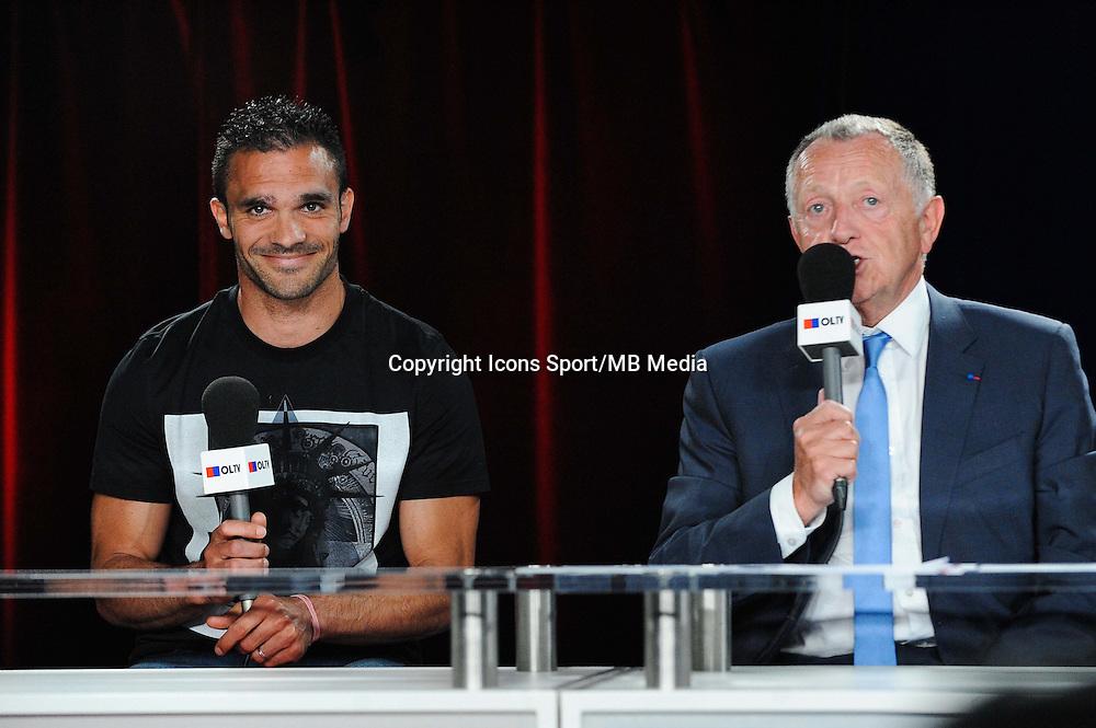 Jeremy MOREL / Jean Michel AULAS - 01.06.2015 - Presentation du nouveau joueur de Lyon<br />Photo : Jean Paul Thomas / Icon Sport