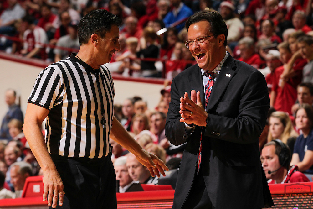 15 November 2013: Indiana head coach Tom Crean as the Indiana Hoosiers played Samford Bulldogs in a college basketball game  in Bloomington, Ind.