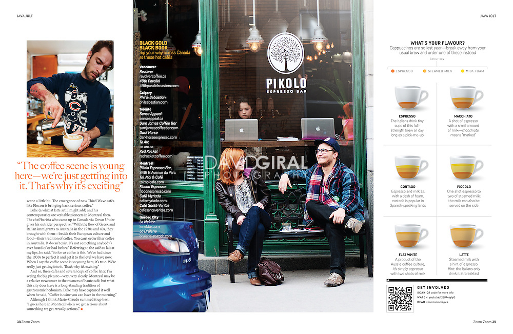 Canadian Coffee Editorial for Zoom Zoom magazine  Issue 07, March 2012 | text by Patricia Gajo