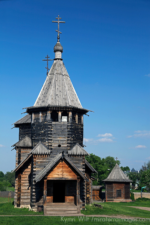 Europe, Russia, Suzdal. Church of the Resurrection at the Museum of wooden Architecture and Peasant Life.