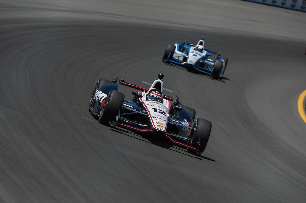 Will Power, Juan Pablo Montoya, Pocono Raceway, USA 7/6/2014