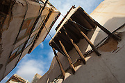 Overhanging houses, Damascus old town, Syria