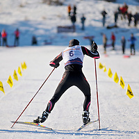 XC Ski racer launching