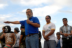 CNRT Party leader and Parliamentary candidate for Prime Minister of Timor-Leste Xanana Gusmao at a CNRT Rally at Dili Stadium, 26/06/07