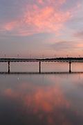 Pedestrian Bridge at Sunset, White Rock Lake, Dallas, Texas