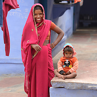 Local woman in City of Karauli,Rajasthan,India