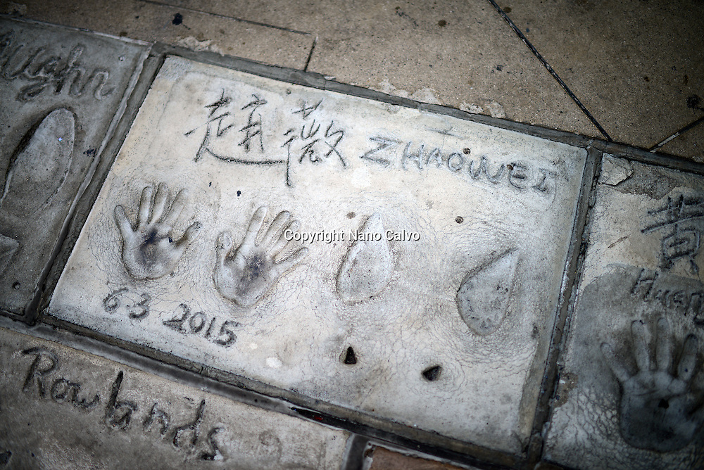Prints in Grauman's Chinese Theatre, Hollywood Boulevard.
