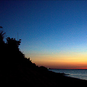 Montauk Long Island, sunset after-glow