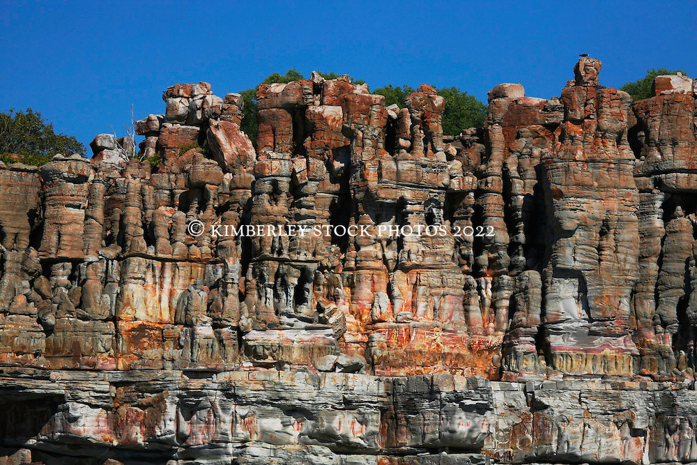 Dramatic colours grace the cliffs at Hall Point In Camden Sound on the Kimberley coast.