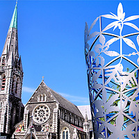 Christchurch, New Zealand Composite of Two Photos<br />