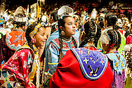 Gathering of Nations Pow Wow, girls, friends, Albuquerque, New Mexico