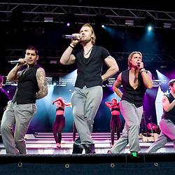 Boyzone at Edinburgh Castle, July 18, 2008.