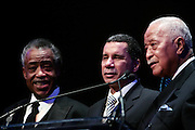 "15 November 2010- New York, NY- Rev.Al Sharpton, Governor David Paterson, and Former Mayor David Dinkins at The National Action Network's 1st Annual Triumph Awards honoring ""Our Best"" in the Arts, Entertainment, & Sports held at Jazz at Lincoln Center on November 15, 2010 in New York City. Photo Credit: Terrence Jennings"