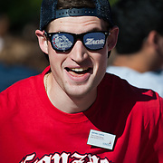 Students show their Zag spirit during New Student Orientation 2012. (Photo by Rajah Bose)