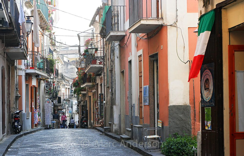 Narrow street in Pizzo, Calabria, Italy