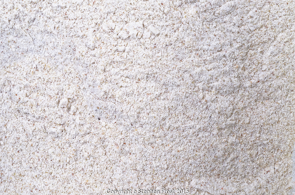 A close-up image of the finely ground buckwheat flour from common buckwheat (Fagopyrum esculentum).
