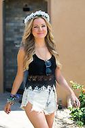 Flower Crown and Denim Shorts, Nylon Coachella 2015 Party