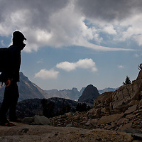 Looking out over Sixty Lakes Basin, Sierra Nevada of California