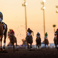 CYPRESS, CA - DEC 17: California Chrome #10, ridden by Victor Espinoza wins the Winter Challenge Staktes at Los Alamitos Race Course on December 17,  2016 in Cypress, California. (Photo by Alex Evers/Eclipse Sportswire/Getty Images)