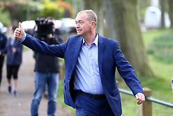 © Licensed to London News Pictures. 29/04/2017. Leeds. Tim Farron campaigning in Leeds this afternoon UK. Photo credit: Andrew McCaren/LNP