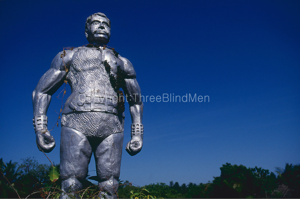 Statue of Mr. Sando Sangarathas, near Batticaloa.