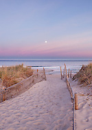 The full Beaver Moon rising over Nauset Beach in Orleans.