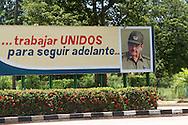Revolutionary sign in Yara, Granma, Cuba.